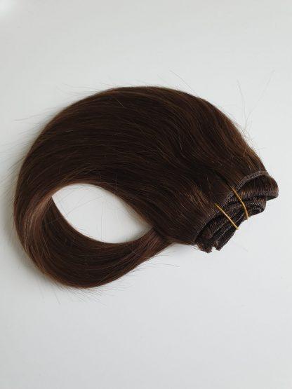 Clip extensions mørke brun